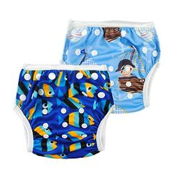 ALVABABY Boys and Girls Swim Diapers 2pcs One Size Reuseable