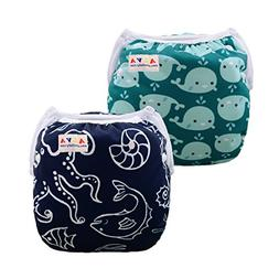 ALVABABY Swim Diapers Boys & Girls One Size Reuseable Adjust