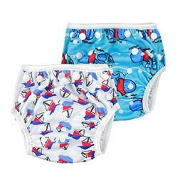 ALVABABY Swim Diapers 2pcs One Size Reuseable Adjustable 0-2