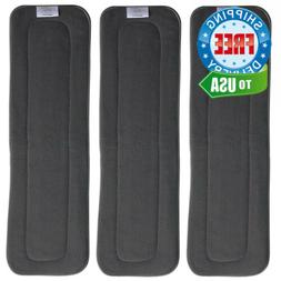 EcoAble Teen/Adult Charcoal Bamboo Inserts for Incontinence
