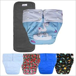 Teen & Adult Incontinence Cloth Diaper with Charcoal Bamboo