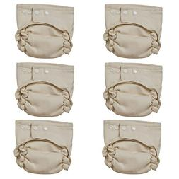 Osocozy Two Sized Unbleached Fitted Diaper - 6 Pack - Size 2