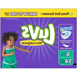 Luvs Ultra Leakguards Diapers, Size 6 , 54 Count
