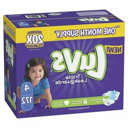 Luvs Ultra Leakguards Disposable Baby Diapers: Size 4 / 172C