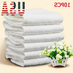 US 10pcs Reusable Washable Inserts Boosters Liners For Real