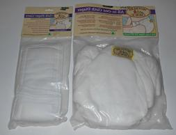 Vintage 1992 MOTHERS CHOICE Cloth Diapers Fitted Inserts Bed