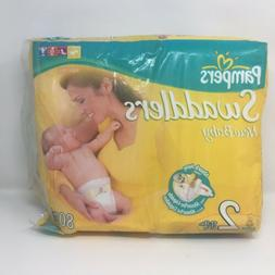 Vintage Pampers Diapers From 2005 63 ct. Cloth Backed Not Pl