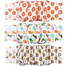 Wegreeco Washable Male Dog Belly Band Pattern- Pack of 3 - W