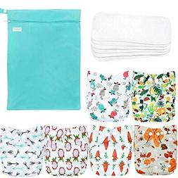 washable reusable baby cloth pocket fruits animals