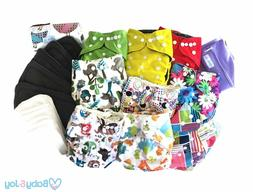 Washable Reusable Bamboo Cloth Pocket Diaper With insert Set