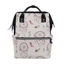 ALIREA Watercolor Bohemian Dream Catcher Diaper Bag Backpack