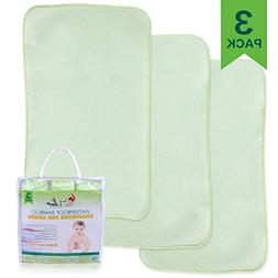 Waterproof Bamboo Changing Pad Liners  - 100% Leak-Proof & N