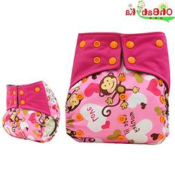 Baby Waterproof Charcoal Bamboo All-in-2 Cloth Diaper Nappie