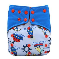 Waterproof Charcoal Bamboo AI2 All-in-2 Baby Cloth Diaper by