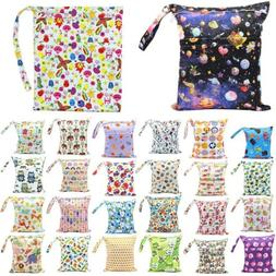 Waterproof Reusable Wet Dry Baby Cloth Diaper Nappy Bag Doub