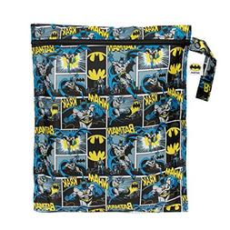 Bumkins DC Comics Batman Waterproof Wet Bag, Washable, Reusa