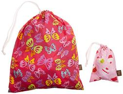"Kushies ""On The Go"" Wet Bag with Pacifier Pouch, Girl/Print"