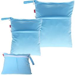 Damero 3pcs Pack Wet Dry Bag for Cloth Diapers Daycare Organ