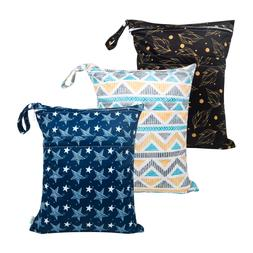Babygoal Wet Dry Bags for Baby Cloth Diapers, Washable Trave