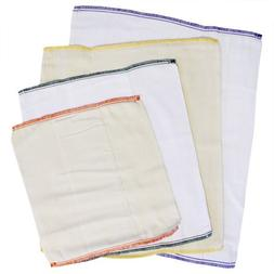 Imagine 6 Pack White Indian Cotton Twill Smart Fit Prefold C