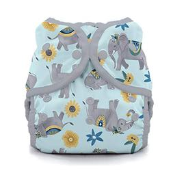 Thirsties Duo Wrap Cloth Diaper Cover, Snap Closure, Elefant